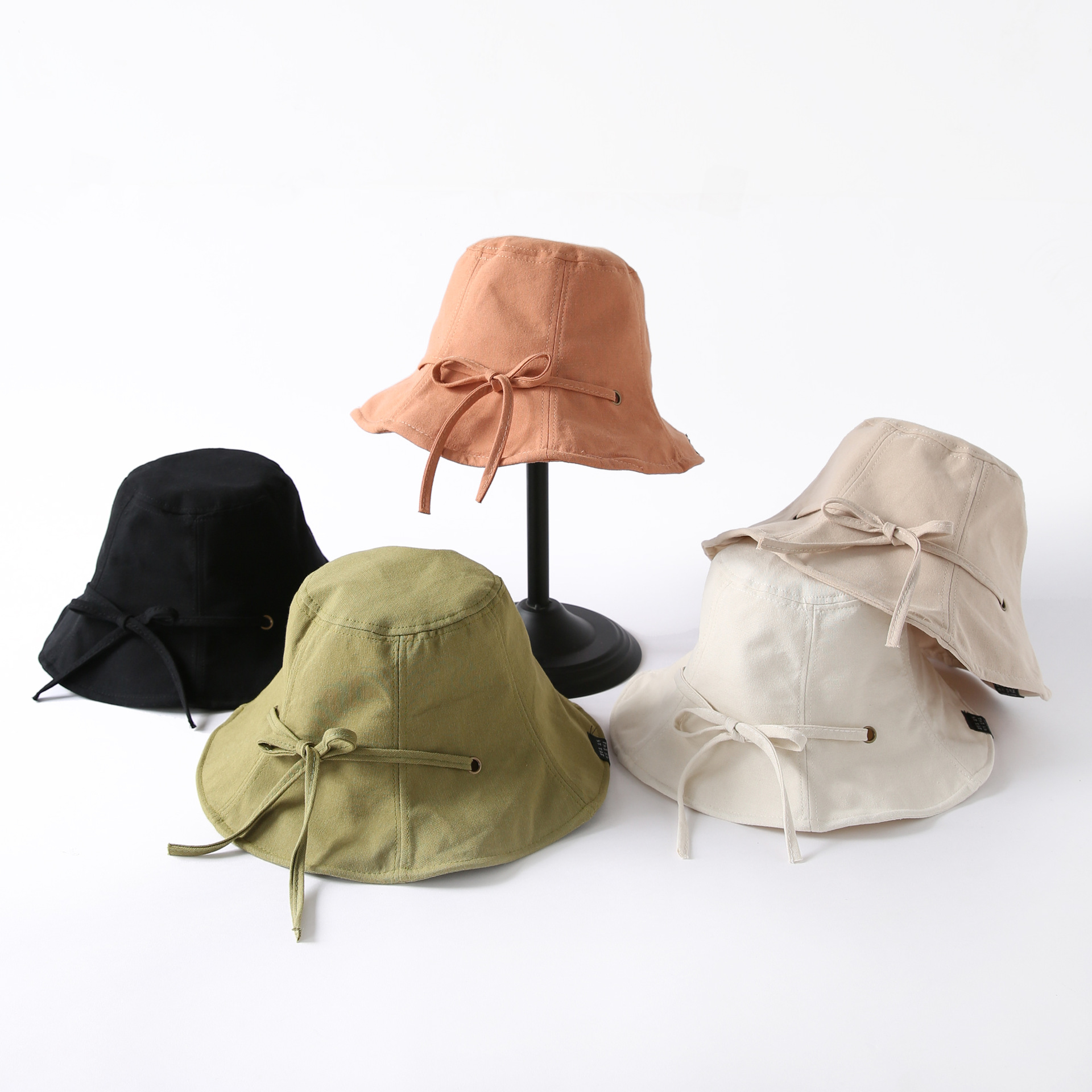 Franch Style Elegant Bucket Hat Women Fashion Summer Beach Sun Outdoors Fisherman Bucket Hat Panama For 90's Girls