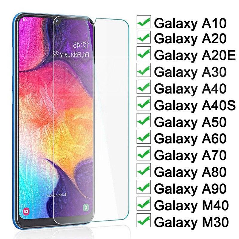 9H Anti-Burst Protective Glass For Samsung Galaxy A20E A40S A10 A20 A30 A40 A50 A60 A70 A80 A90 Tempered Screen Protector Glass