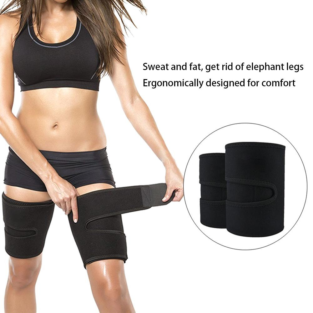 1 Pair Leg Rubber Compression Girdle Leg Arm Cover Calorie Fat Elimination Weight Loss Stovepipe Leggings Thigh Trimmer 30E