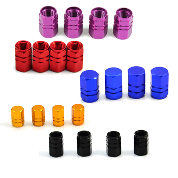 2020 Theftproof Aluminum Car Wheel Tires Valves Tyre Stem Air Caps Airtight Cove 4pcs/set Dustproof Cover Car Styling Accessory image