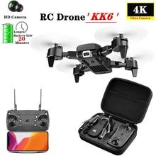 KK6 New RC Drone with 4K HD 50X Times Zoom WIFI FPV Dual Camera Foldable Dron Qu