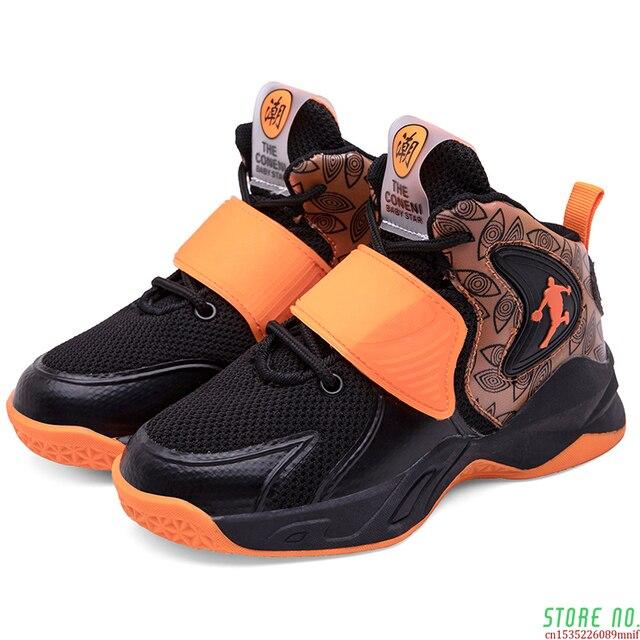 Zapatillas deportivas de baloncesto para niños, Zapatos altos de marca para gimnasio, botas de baloncesto para jóvenes, novedad 2
