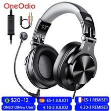 Oneodio سماعة ألعاب سلكية 3.5 مللي متر ، سماعة رأس ستريو فوق الأذن مع ميكروفون قابل للفصل للكمبيوتر الشخصي و PS4 والهاتف