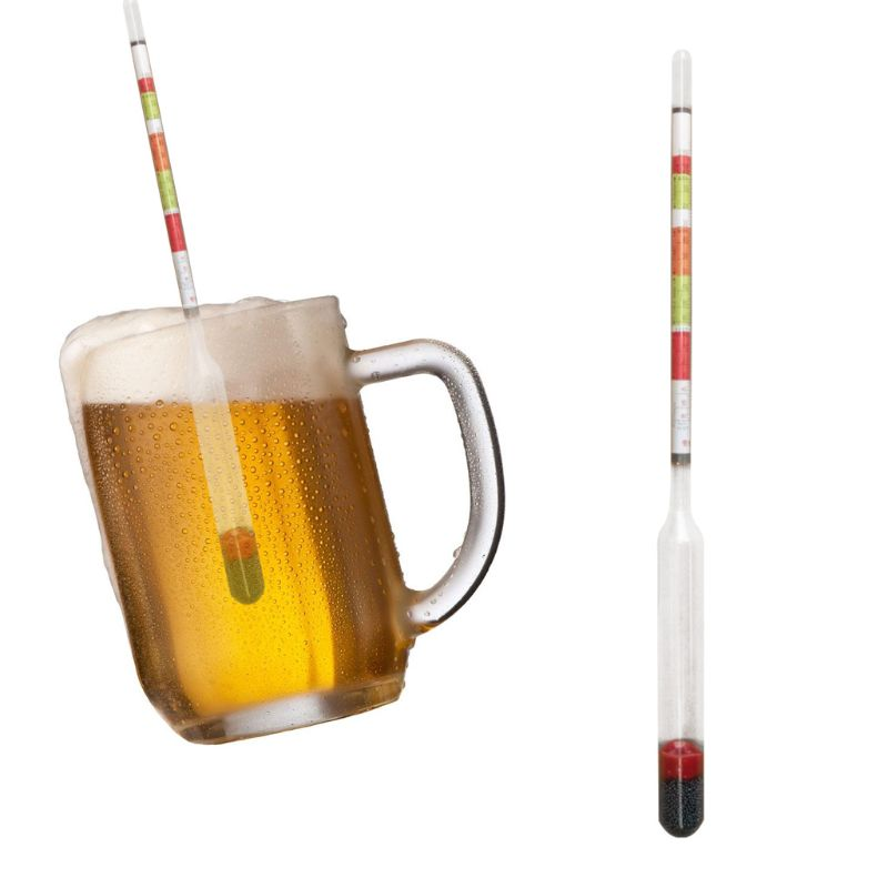 2pcs Triple Scale Hydrometer Self Brewed Wine Sugar Meter for Home Making Beer 35ED