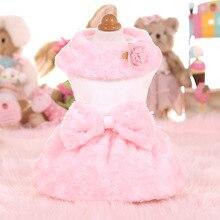 Новые осенне-зимние женские теплые платья с тиснением в виде кролика для домашних животных, белое платье для собак, зимнее платье для домашних животных