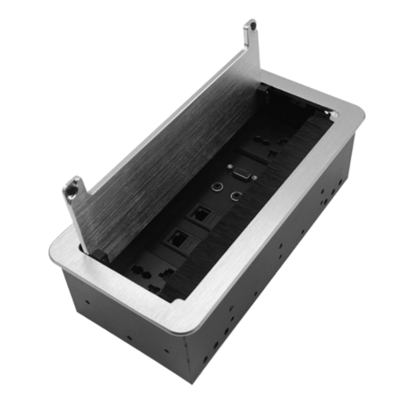 Multimedia Outlet Connection Box Desktop Socket with Power and USB Charger for Conference Room