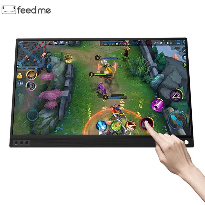 Écran tactile moniteur LCD moniteurs écran LCD d'ordinateur portable 15.6 pouces HDMI moniteur pour ordinateur portable Samsung DEX téléphone XBOX commutateur PS4