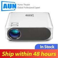 AUN Full HD проектор AKEY6S, TV Box $9,99, 1920x1080 P, 6800 люмен, Android 6,0 WIFI проектор, светодиодный проектор для 4K 3D домашнего кинотеатра