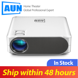 Aun Full Hd Projector AKEY6S, Tv Box $1.99, 1920X1080 P, 6,800 Lumens, android 6.0 Wifi Beamer, Led Projector Voor 4K 3D Home Cinema