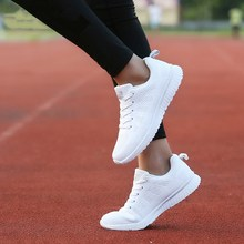 Women's Sneakers Running-Shoes Road-Run Lightweight White Breathable Casual Fabric Outdoor
