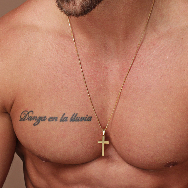 2020 Fashion New Classic Cross Men Necklace  Stainless Steel Chain Pendant Necklace For Men Jewelry Gift 2