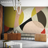 MASAR Original geometric collage collage mural minimalist fashion wallpaper sofa television bedside background wall wallpaper