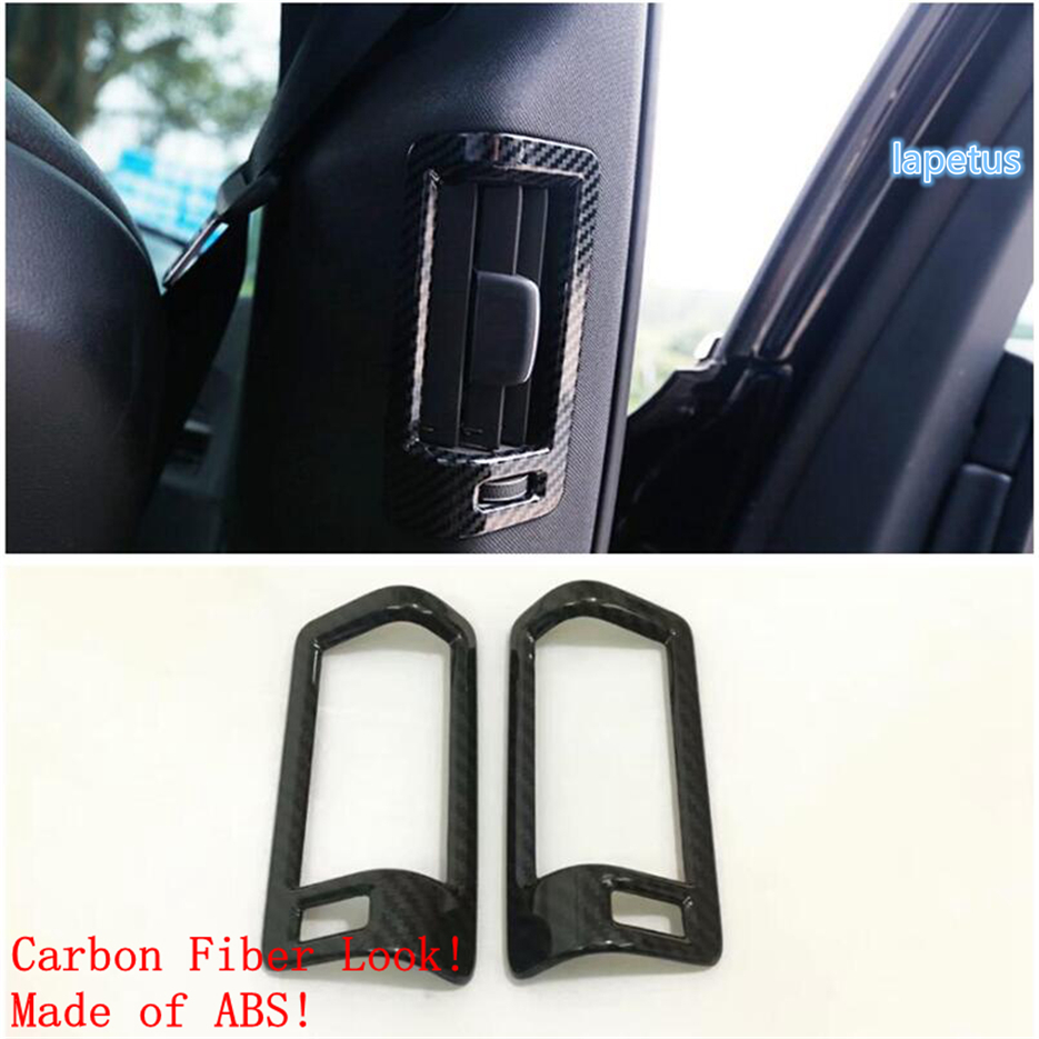 Lapetus Pillar B Air Conditioning AC Outlet Vent Decorative Frame Cover Trim Fit For Volvo <font><b>XC60</b></font> 2018 2019 2020 ABS <font><b>Carbon</b></font> Fiber image