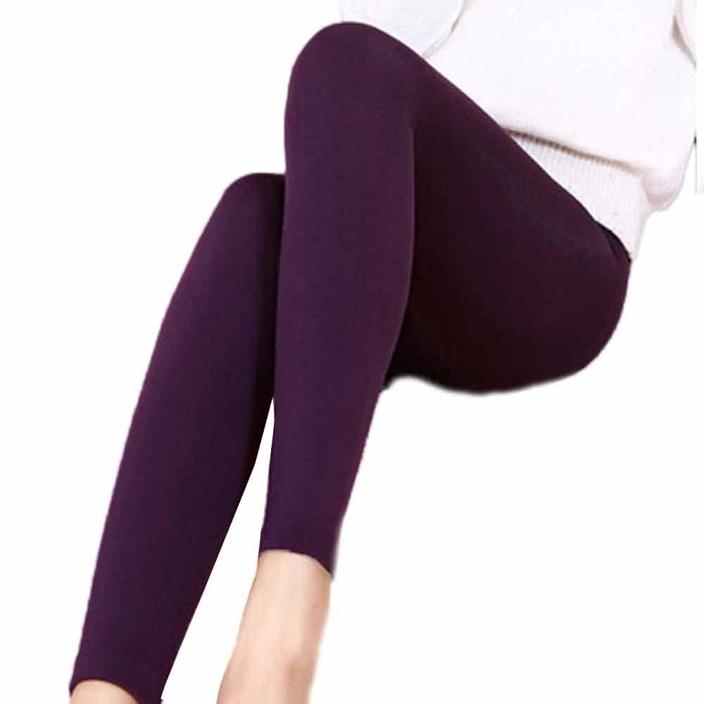 Leggings en cachemire chaud pour femme, pantalon de survêtement épais et décontracté, taille haute, élastique, Slim, pour Fitness et Gym, collection hiver