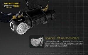 Image 4 - Оригинальное зарядное устройство Nitecore HC33 фар CREE XHP35 светодиодный 1800 люмен Высокая производительность налобный фонарь + 3500 мАч 18650 батарея