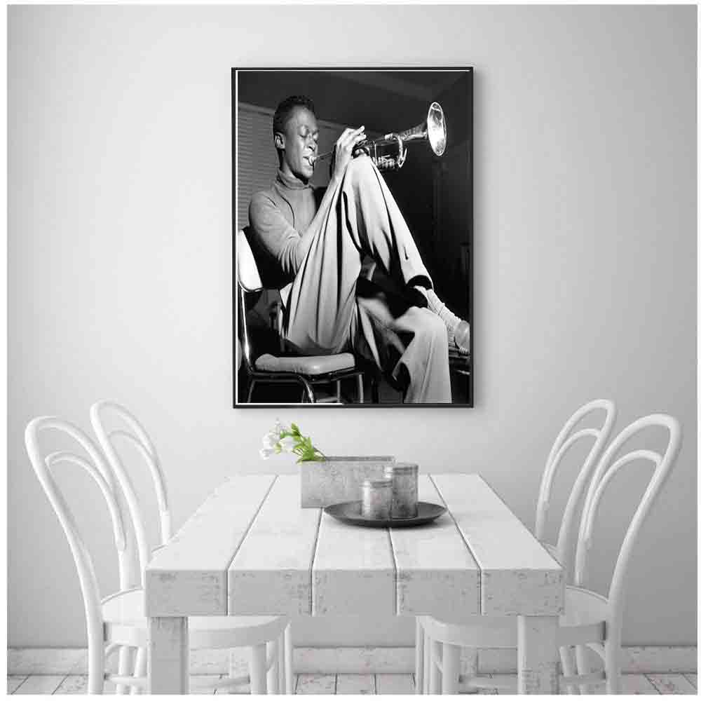 D225 Miles Davis Kind Of Blue Jazz Music Album singer Art Silk Poster Decoration Print canavas Pictures gift 12x18 24x36 27x40 image