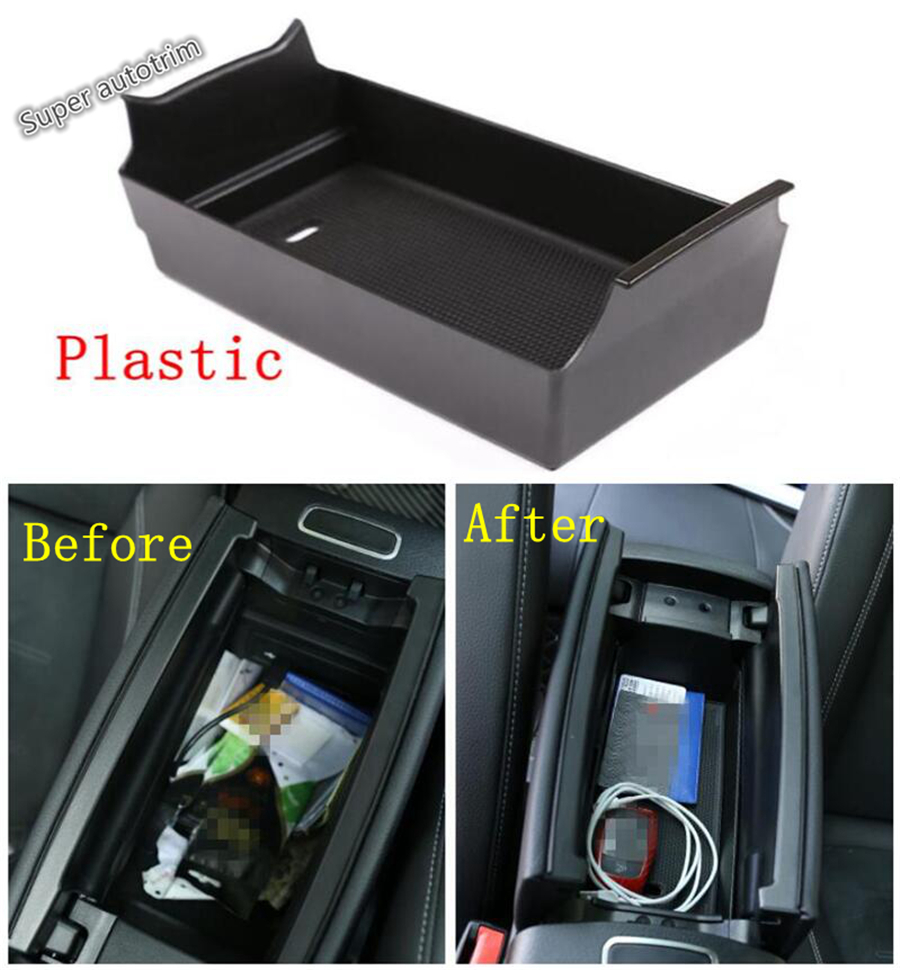 Lapetus Armrest Storage Central Box Phone Case Holder Cover Kit Fit For Mercedes Benz A Class W177 <font><b>A200</b></font> A220 <font><b>2019</b></font> 2020 Interior image