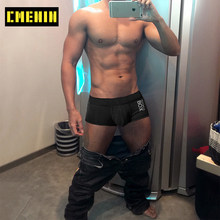 Print Sexy Man's underwear Boxer Shorts Comfortable Hot Sale Mens Boxershorts Underware Boxers Transparent Underpants OR6605