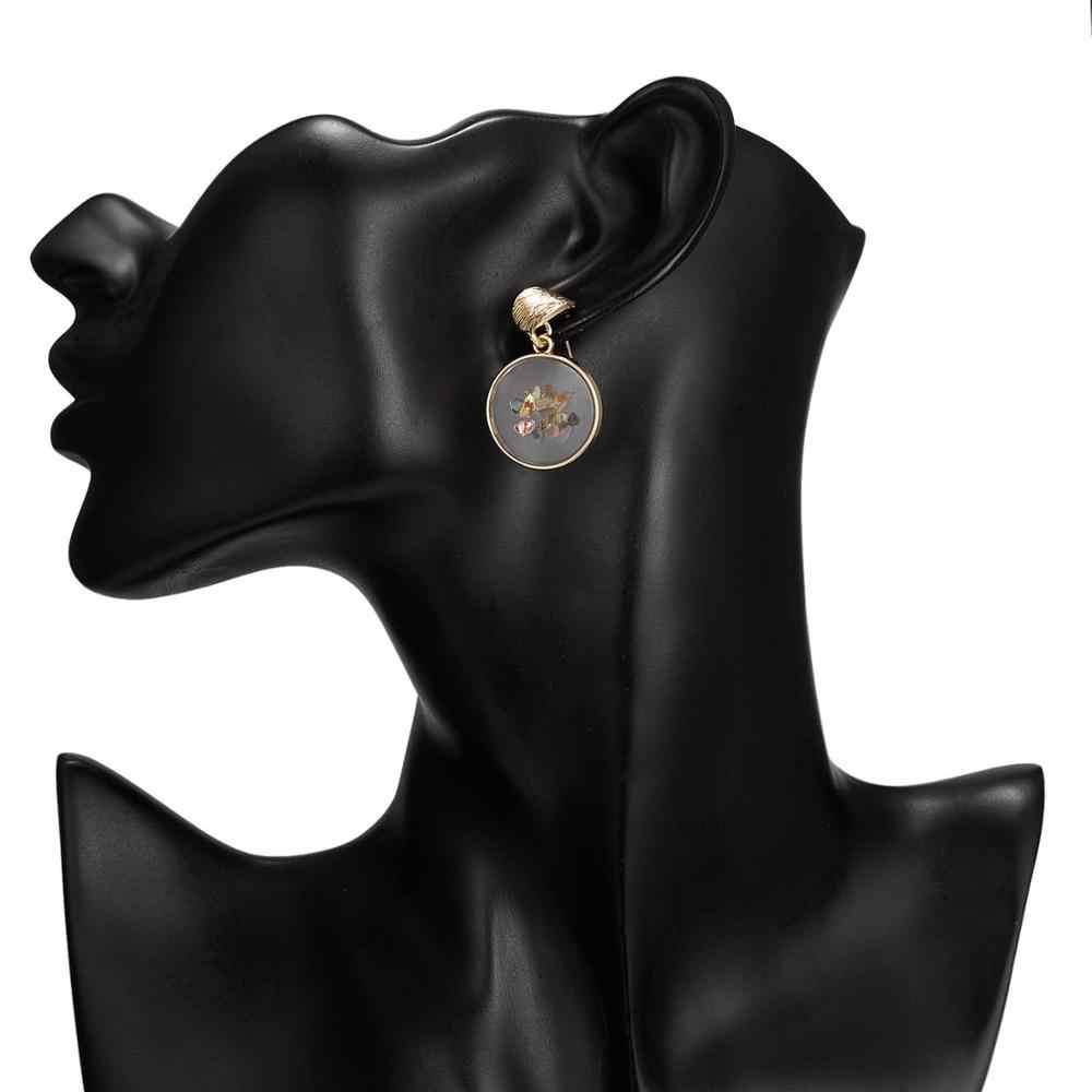Rinhoo 1 пара модные популярные прозрачные, круглые корейский стиль серьги Brincos для Для женщин Модные украшения подарок