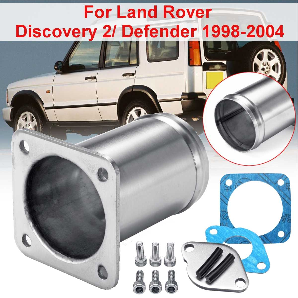 Car Stainless Steel EGR REMOVAL Kit / EGR Valve Blanking Plate For LAND ROVER DISCOVERY 2 DEFENDER TD5 JR-EGR11  Accessories