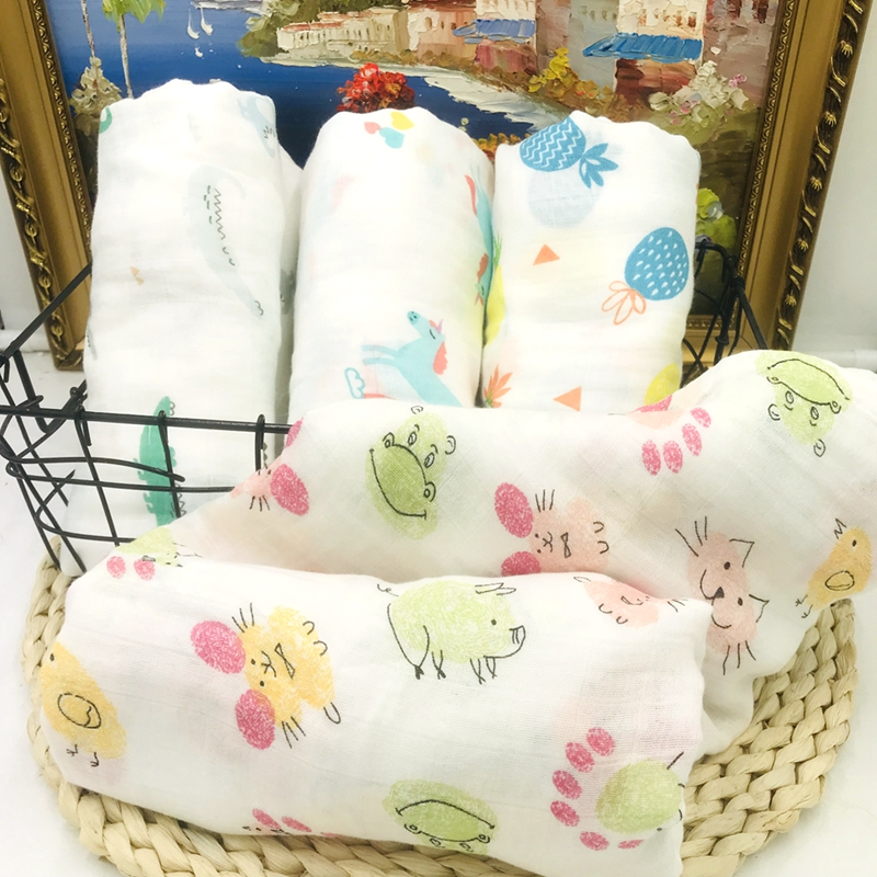 Crocodile 70% Bamboo Fiber 30% Cotton Muslin Baby Blanket Kids Blankets Swaddle For Newborn Bedding Bath Towel Wrap Milestone