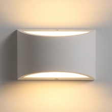 Led Wall Sconce Up and Down Indoor Light Uplighter Downlighter Gypsum Plaster Lights with 5W G9 Bulb Warm White