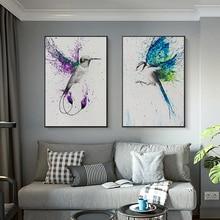 Летающие птицы цветные яркие абстрактные крылья холст живопись Современные плакаты и принты настенные художественные картины для гостиной домашний декор