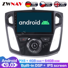 цена на Android 9.0 With DSP Carplay IPS Screen For Ford Focus 2012 2013 2014 - 2017 RDS Car GPS Navigation Radio DVD Player Multimedia