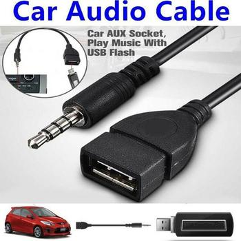 3.5mm Male Audio AUX Jack to USB 2.0 Type A Female OTG Converter Adapter Cable Stereo Audio AUX Adapter Cable for Car MP3 image