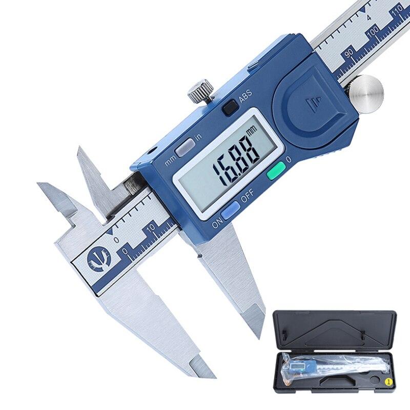 Novo 150mm de alta precisão digital metal vernier caliper eletrônico aço inoxidável 3ms resposta medição calibre pachômetro