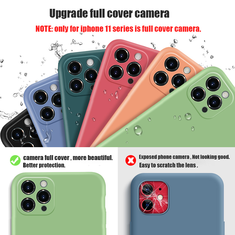 Liquid Silicone Phone Case With Precise Holes And Lens Protection for iPhone 11 Models 2