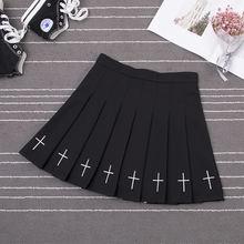 Женская плиссированная юбка harajuku с высокой талией эластичным