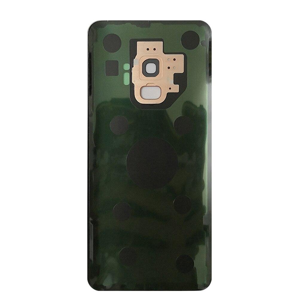 Для Samsung Галактики плюс С9 С9 задняя крышка батарейного отсека корпуса задняя крышка стеклянная задняя крышка двери замена