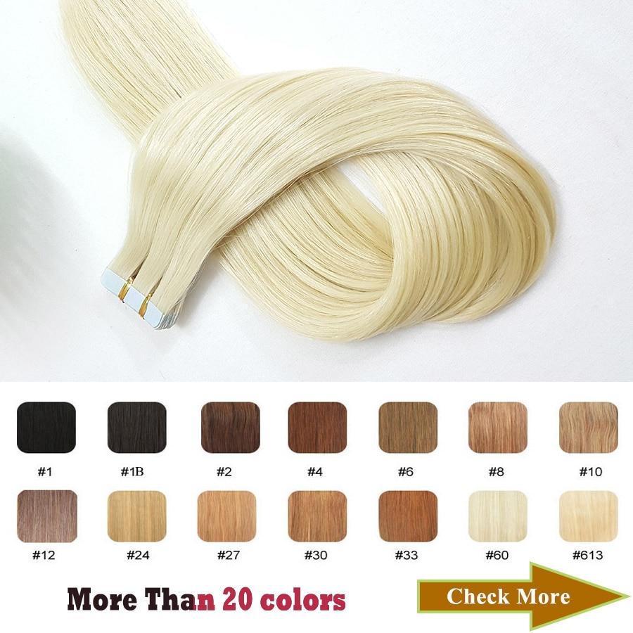 Купить светлая лента для наращивания showcoco 100% натуральные человеческие