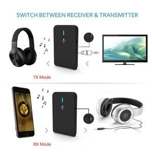 Image 2 - Receptor y transmisor de Audio 2 en 1 bluetooth 5,0 de BT 6, adaptador bluetooth con Micro soporte manos libres para TV, auriculares y PC