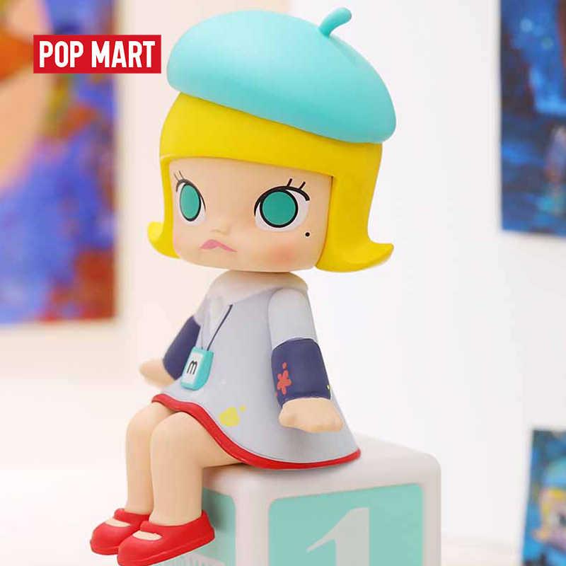 POPMART Molly Happy train partito serie Cieco Scatola Bambola Binario Action Figure Di Compleanno Giocattolo Del Regalo Del Capretto
