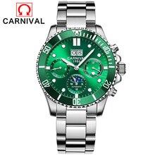 Relogio Masculino Carnival Luxury Brand Military Automatic Watch Mens Waterproof Luminous Mechanical Sport Watches Relogio 2019 soxy relogio wat1316