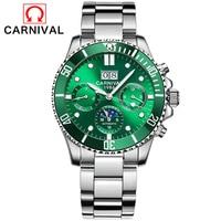 Relogio masculino carnaval marca de luxo militar relógio automático dos homens à prova dwaterproof água luminosa relógios mecânicos do esporte relogio 2019 Relógios mecânicos    -