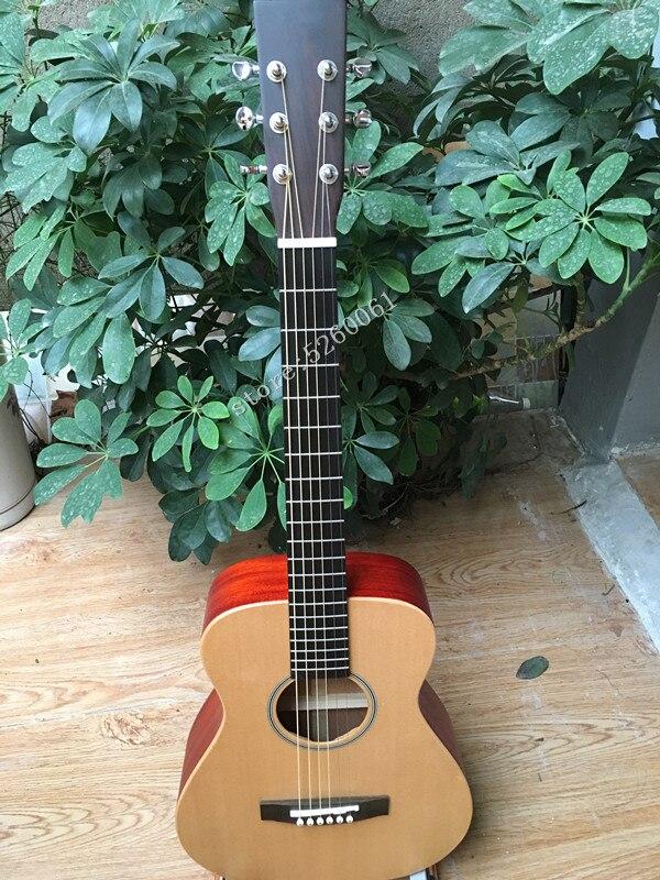 En stock + nouvelle usine chinoise + guitare de voyage 34 pouces + guitare acoustique en épicéa massif + guitare électrique pour enfants débutant