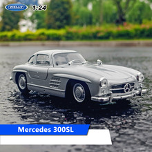 welly 1:24 Mercedes 300SL car alloy car model simulation car decoration collection gift toy Die casting model boy(China)
