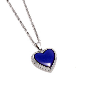 ai xin xing Sensitive Color Changing Necklace Peach Heart Photo Box Pendant O-shaped Chain Source Manufacturers Style Qi Price W
