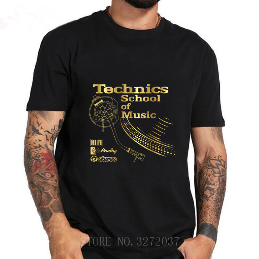 Technics School Of Music Funny Cartoon T Shirt Men Casual Tshirt Homme Comfortable All Cotton Tees