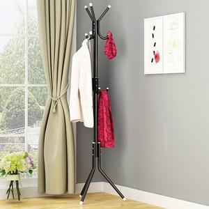 Image 5 - 9/12 Hook Clothes Hanger Tree Shaped Hat Coat Rack Metal Steel Tube Coat Hanger Saving Space Handbag Scarf Storage Clothes Stand
