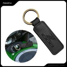 Motorcycle Cowhide Keychain Key Ring Case for Kawasaki Z1000 Z1000SX Models