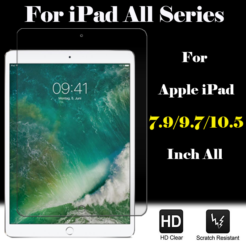 For IPad 9.7 Glass 6 5 Generation Gen Protect Glas Screen Protector For Apple Tablet 2 3 4 Pro 6th Mini Air 1 Protective Film