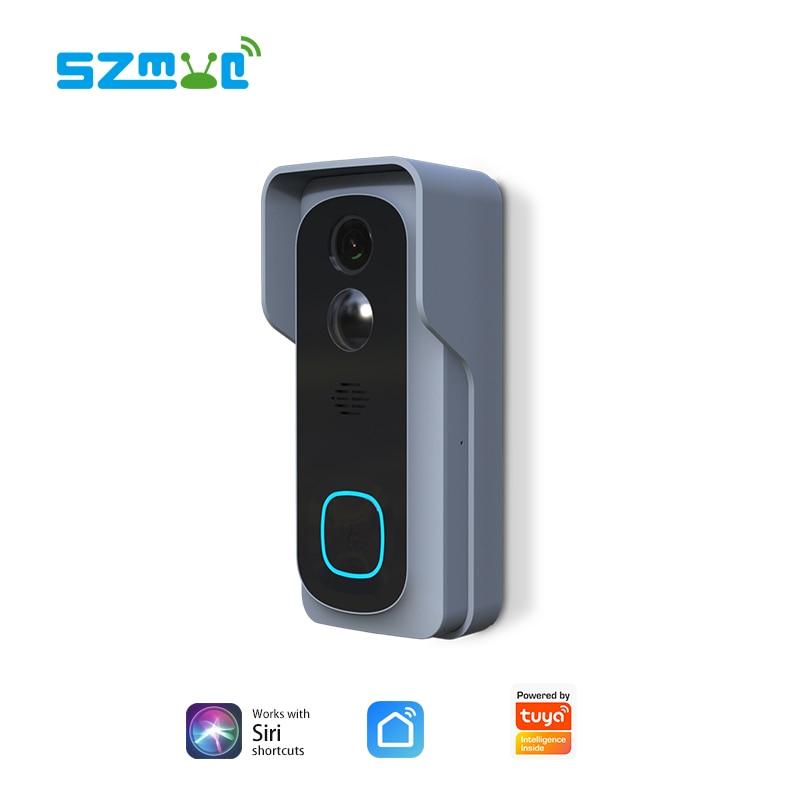 Купить с кэшбэком Siri Tuya Doorbell Smart LIfe Tuya Wireless Video Doorbell Camera IP65 WaterProof Cloud Recording Full HD Two Way Audio