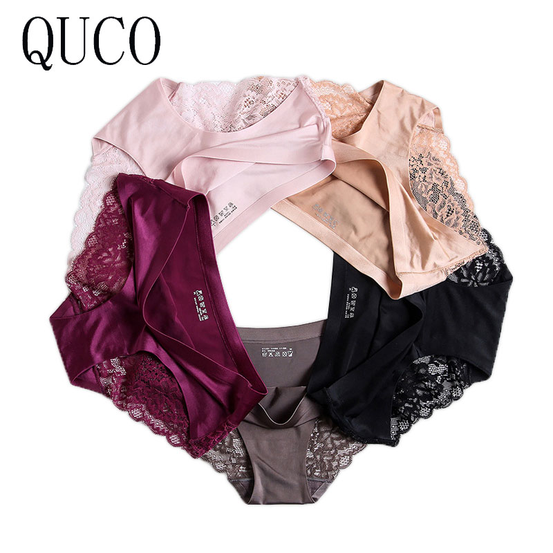 QUCO brand 6pcs/lot women panties sexy pink underwear  cotton ropa interior femenina lingerie calcinha feminina women underwear 1