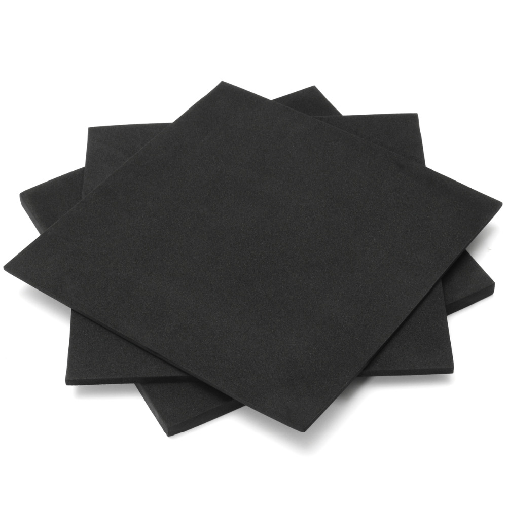 150x150mm 3mm 5mm 10mm Soundproofing Foam ESD Anti Static Pin Insertion High Density Foam Sound-Absorbing Noise Sponge Foam