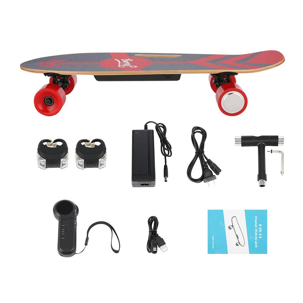 PU Wheel 3-Speed Electric Skateboard Lithium Battery Powered with Remote Controller 29.4V 2000mah Lithium Battery Maple Deck 5