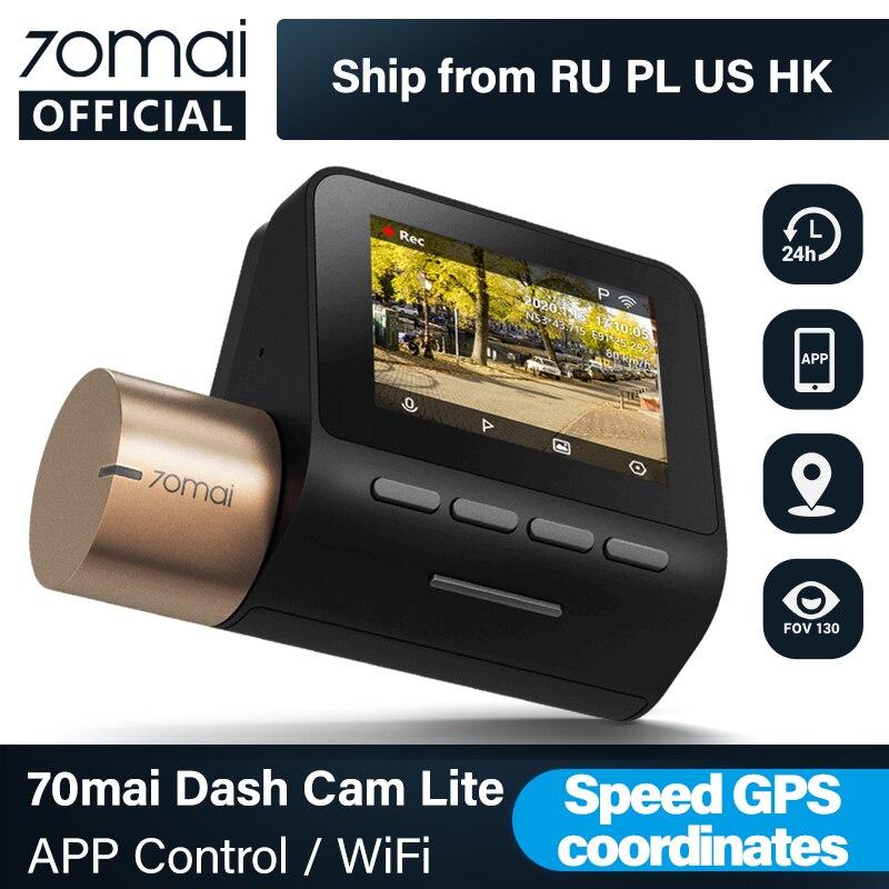 70mai traço cam lite 1080 p gps velocidade função 70 mai cam lite 24 h monitor de estacionamento 1080 p 130fov visão noturna 70mai wifi carro dvr